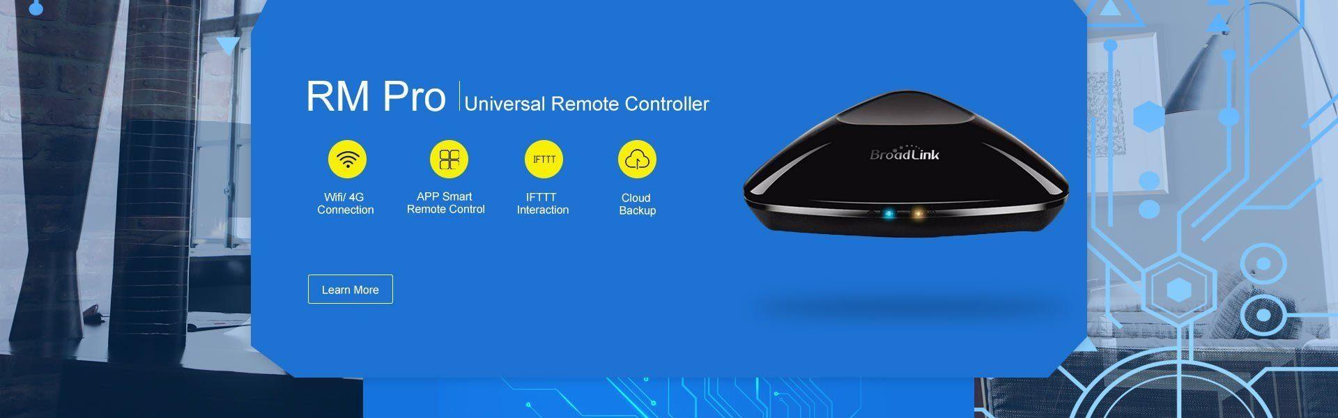 Broadlink Rm Pro smart IR universal remote control RF 433mhz