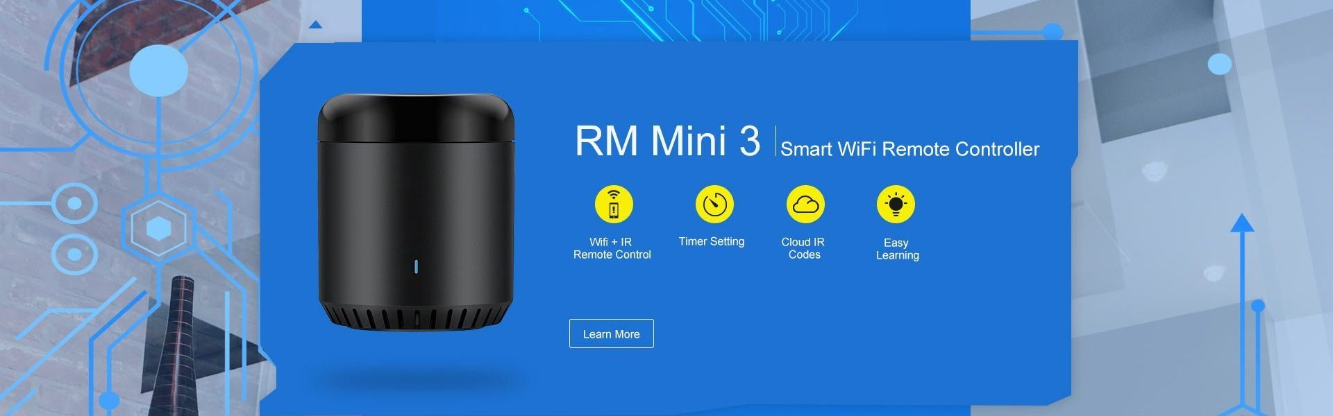 Broadlink Rm mini3 smart ir universal remote control Home automation