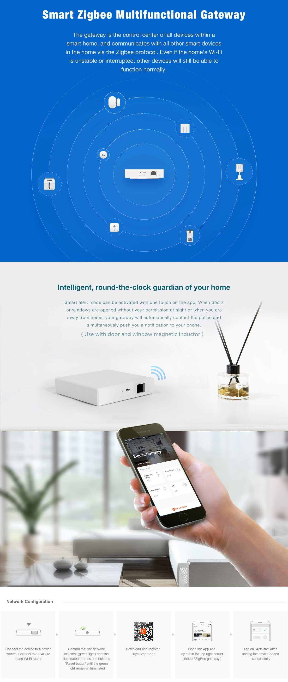 ZigBee smart gateway