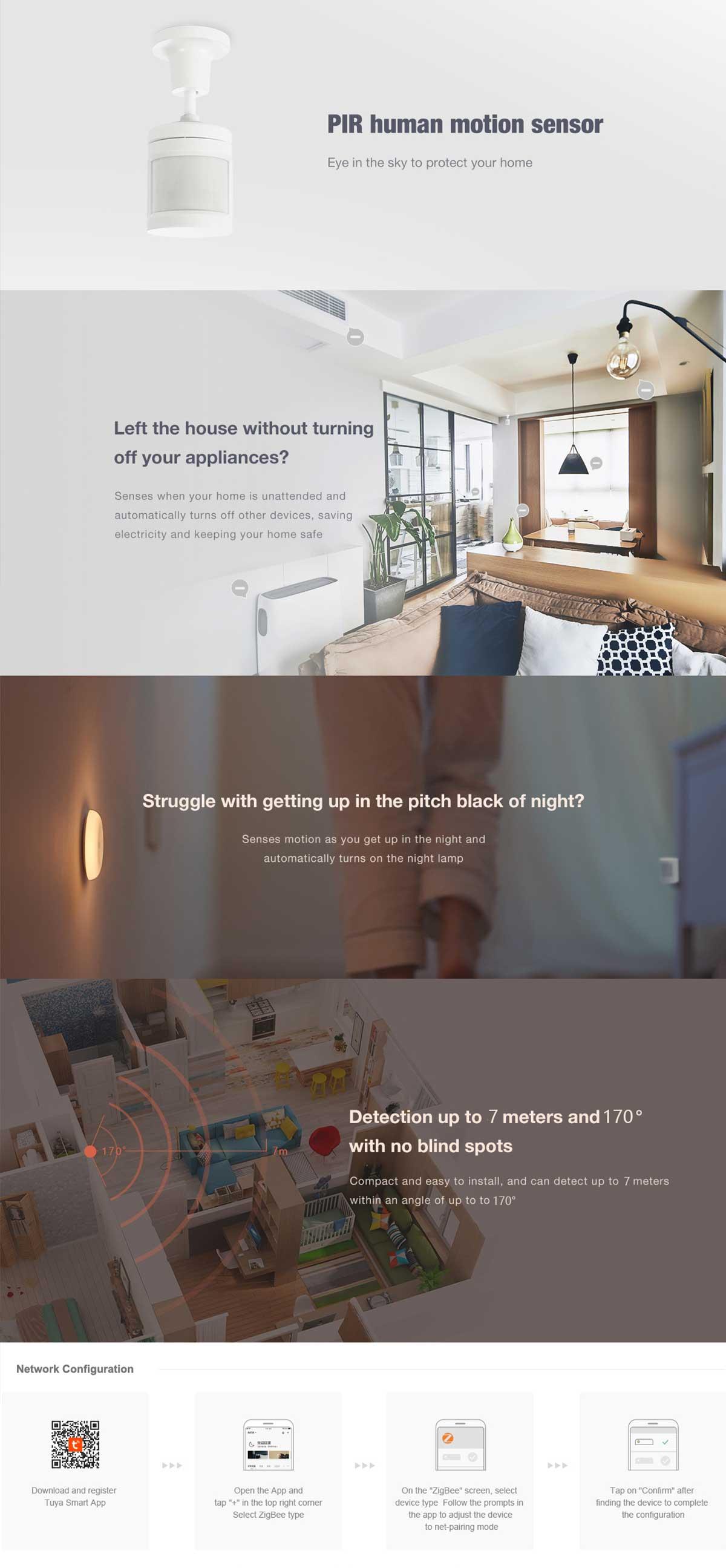 smart home sensor for motion