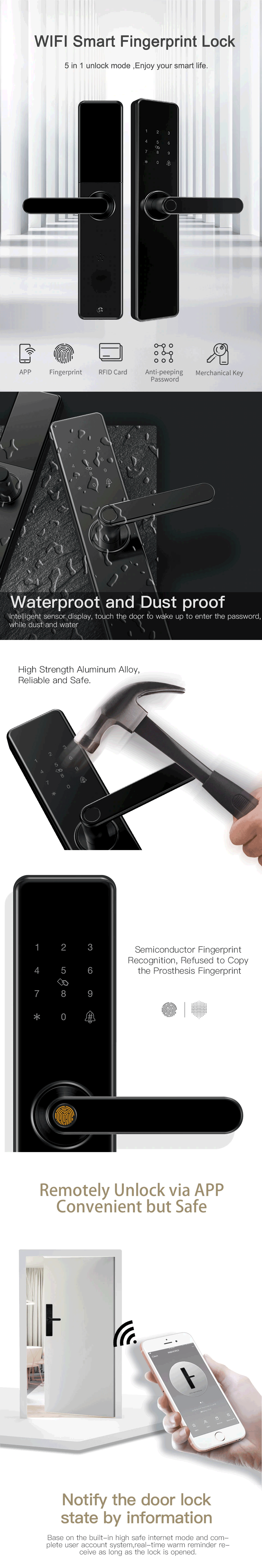 wifi finger print door lock